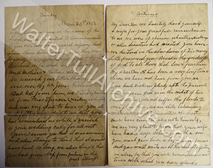 Letter from Anna F. Tull, William Tull & brother of Daniel