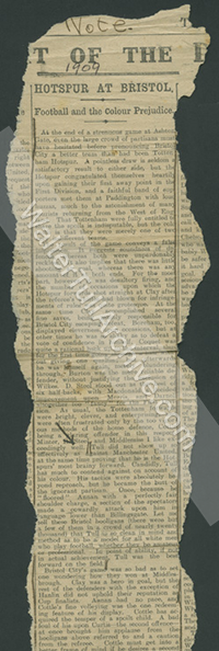 Newspaper report – Football Star, 1909