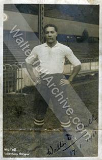 Walter Tull in Tottenham Hotspur strip
