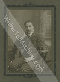 Studio photograph of young Walter Tull