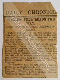 Newspaper report – Daily Chronicle, December 1914