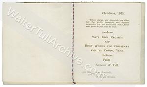 Regimental Christmas card, 1915