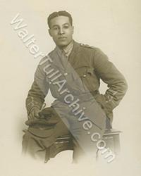 Studio photograph of Walter Tull