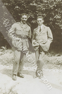 Photograph of Walter Tull and Edward Tull-Warnock
