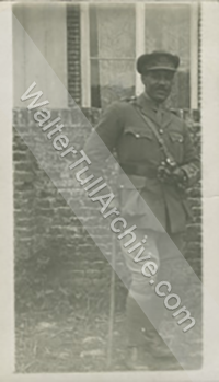 Photograph of Walter Tull in uniform
