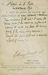 Citation from the Italian Front, 1-2 January 1918