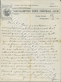 Letter from Northampton Town F.C.