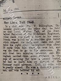Copy of newspaper report