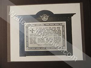 Photo of war memorial plaque